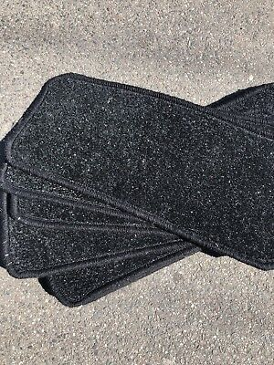 New Set Of 13 Individual Stair Tread Pads 50cm X 20cm Black Glitter