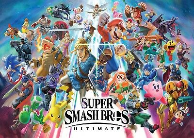 Super Smash Bros Ultimate Large Poster Art Print A0 A1 A2 A3 A4 Maxi