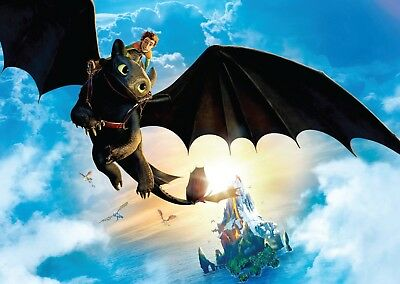 How To Train Your Dragon Toothless Large Poster Art Print A0 A1 A2 A3 A4 Maxi