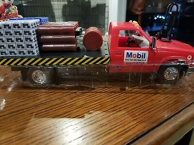 Mobil Collectible Toy Flatbed Truck Ltd Edition 1996 4Th In Collector Series