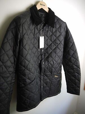 Barbour Men's Heritage Liddesdale Jacket, Black, Medium, New With Tags