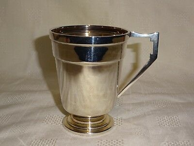 Birmingham 1935 Sterling Silver Christening Cup - FH Adams & Co - 89g