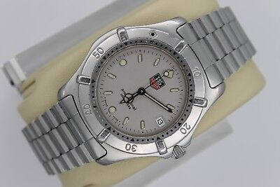 279c81dd69c3 Tag Heuer WE1111 962.206 Professional 2000 SS Watch Mens Gray Silver Mint  Dial