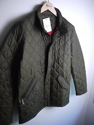 Barbour Flyweight Chelsea Quilted Jacket, Olive Green, Medium, New With Tags