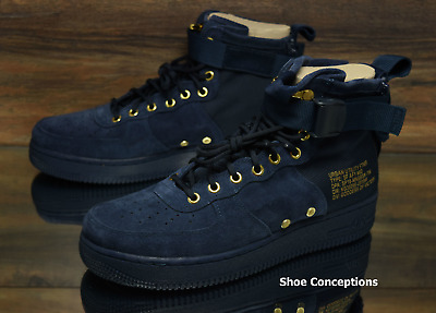 9a1af570e252 Nike SF Air Force 1 Mid Obsidian Black 917753-400 Men s Shoes Multi Size