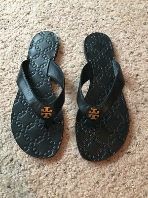 13aa61c82a8 TORY BURCH BRITTON slingback Flat thong Sandals Tumbled leather Gold ...