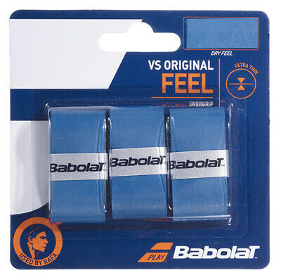 Babolat VS Grip Original Overgrip Tennis - Pack of 3 - Blue - Free UK P&P