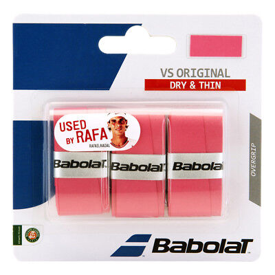 Babolat VS Grip Original Overgrip Tennis - Pack of 3 - Pink - Free UK P&P