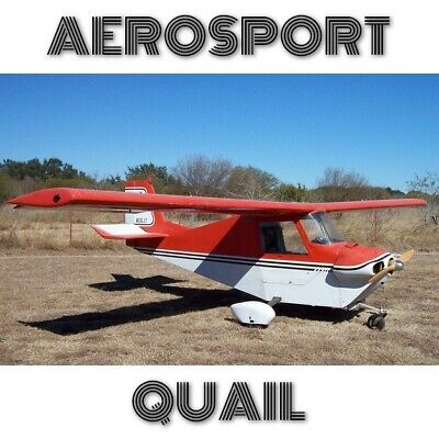 Aerosport Quail Paper Plans For Homebuild - Simple Build Metal Volkswagen Engine