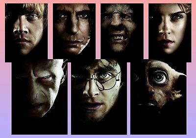 Harry Potter & the deathly hallows Pt 1 Character Textless A5 A4 A3 Poster
