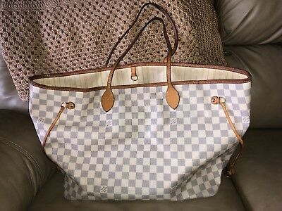 91fe596efab PREOWNED LOUIS VUITTON Neverfull Damier Azur GM
