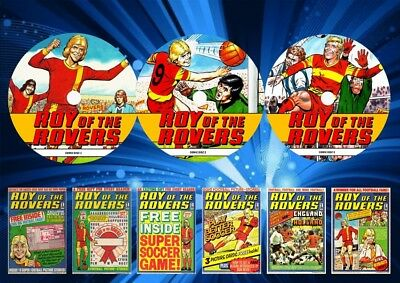 Roy Of The Rovers UK Comics On 3 DVD Rom's