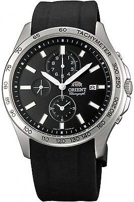 ORIENT FTW01006B0,MEN CHRONOGRAPH,NEW,SILICONE,50M WR,WITH TAG AND