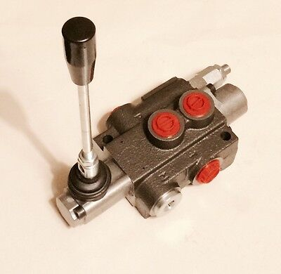 1 Bank Monoblock Spool Valve 40 L/Min. Double Acting with A and B Open To Tank