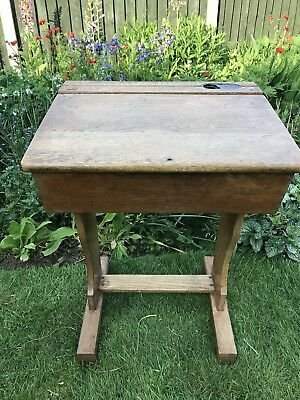 Vintage Oak School Desk