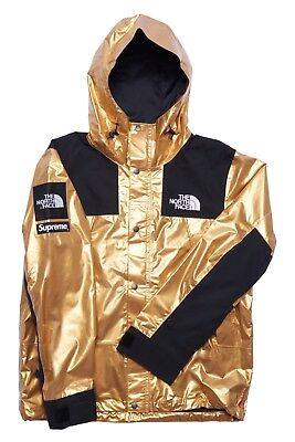 c827d04e0 * IN HAND * SUPREME x THE NORTH FACE METALLIC MOUNTAIN PARKA JACKET GOLD  SIZE M