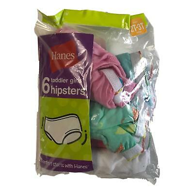 Hanes Toddler Girls' Cotton Hipsters Panties Size 2T 3T (6 Pack)