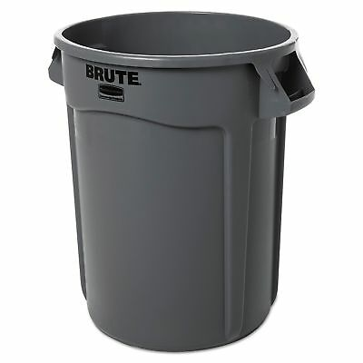 (One) Trash Can Brute Gray Rubbermaid, 32 Gallon Container, Chip Resisted 263200