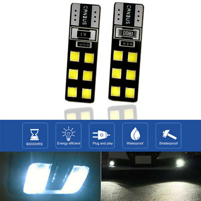 T10 Car Wedge Light 12 LED 6W DC12V Rear Signal Light Durable Parking Tail