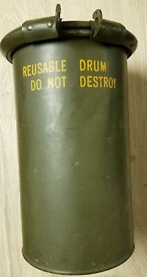 VINTAGE - MIRAX MS24347-41 Reusable Military Shipping Drum/Container/Barrel  WWII