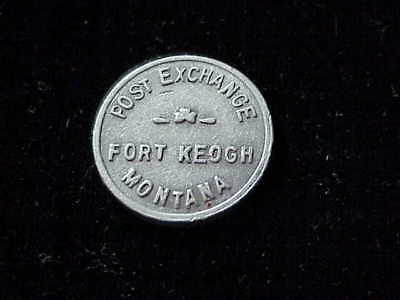 Fort Keogh, MT Post Exchange, early unlisted Montana aluminum military token