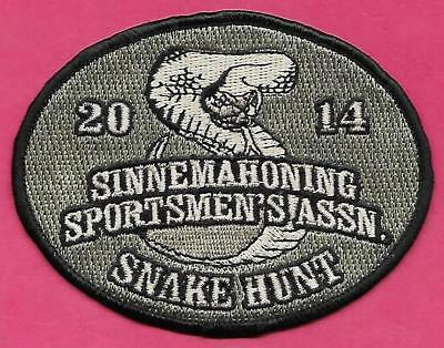 Pa Pennsylvania Fish Game Commission NEW 2014 Sinnemahoning Snake Hunt Patch