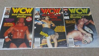 WCW: WORLD CHAMPIONSHIP WRESTLING #1 2 5 Marvel Comic Ron Simmons Luger Sting