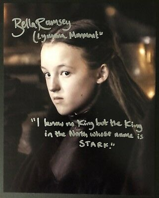 Bella Ramsey Signed 8x10 Game of Thrones The Worst Witch w/Quote Exact Proof