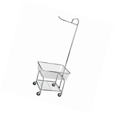 Chrome Finish Household Essentials 6028-1 Rolling Laundry Cart with Hanging Bar