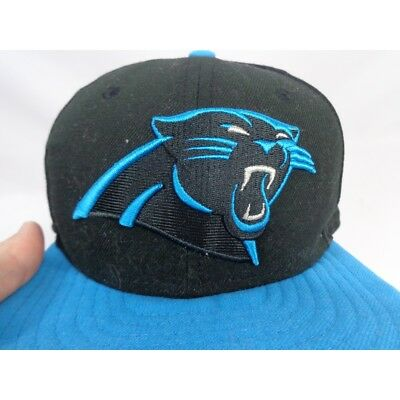 36ecc411a52 NEW ERA 59FIFTY NFL Carolina Panthers Flat Bill Youth fitted Hat 6 3 ...