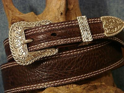 New SZ. 34 Ariat BROWN GRAIN LEATHER Belt FIRST QUALITY combined shippingT375