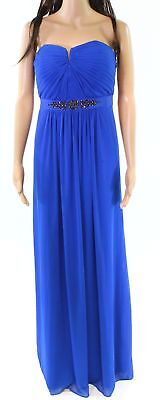 Adrianna Papell Ruched Embellished Gown Size 8 S117 3699