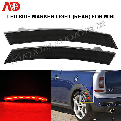 Smoked Lens Rear Red LED Side Fender Marker Light Lamp For MINI COOPER R50R52R53