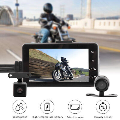 """3.0"""" LCD Motorcycle Car Driving Recorder DVR Action Video Camera 140° Waterproof"""