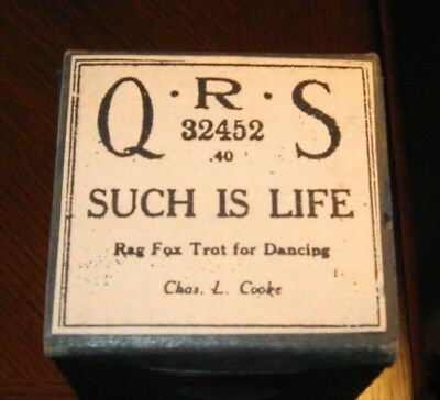 Such Is Life Rag Fox Trot Recut Piano Roll 0718