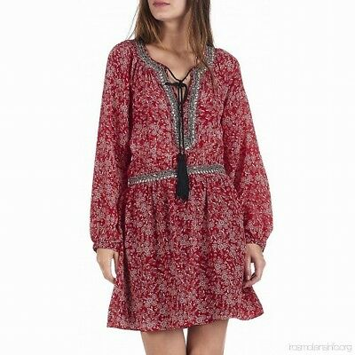 4713ecb869 The Kooples NEW Red Womens US Size 6 IT 3 Embellished A-Line Dress $365