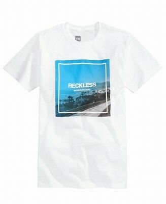 ba2028cc Young & Reckless NEW White Mens Size XL Beach Front Graphic Tee T-Shirt $22