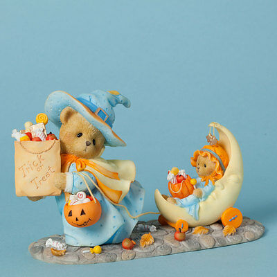 Cherished Teddies Connie & Annie 40453 Ltd Edition 2014 Witch Trick or Treat NIB