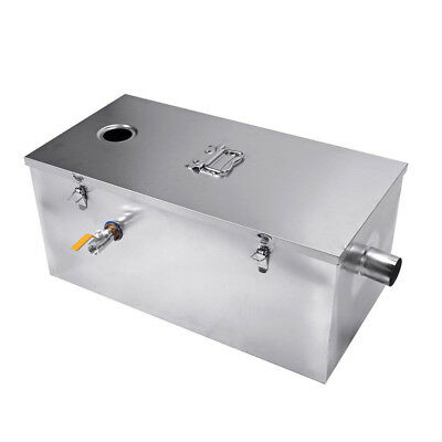 25LB Grease Trap 13GPM Gallons Per Minute Interceptor for Commercial Restaurants