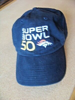 d352b9382 Denver Broncos Super Bowl 50 NFL baseball cap hat adult one size adjustable