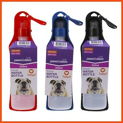 12 x FOLDABLE PET DOG CAT WATER DRINKING BOTTLE 500mL | Travel Water Dispenser