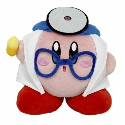 """Doctor Kirby All Star Collection Plush 5"""" Kirby's Adventure Genuine Little Buddy"""