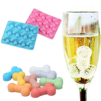 Silicone Penis Shape Ice Cube Tray Freeze Bar Jelly Pudding Chocolate Mold Mould