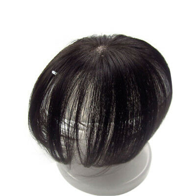 Mono Clip In Remy Real Human Hair Topper Hairpiece for Cover Grey/Loss Hair