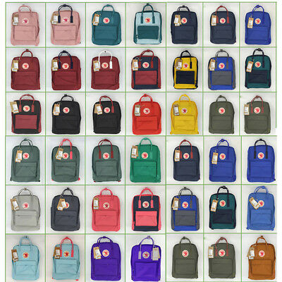 Unisex Fjallraven Kanken Backpack Travel Shoulder School Bags 7L/16L/20L HOT