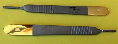 Set of 2 BP Handle No 3 Surgical , Veterinary , Dental Instruments CE.