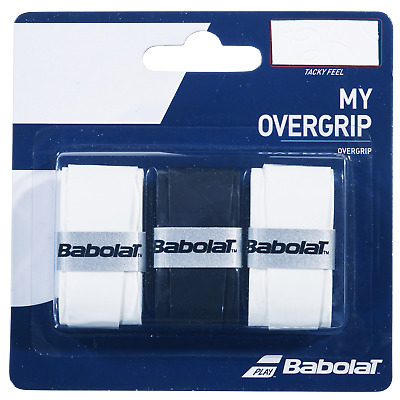 Babolat My Grip Overgrip Tennis Grips Overgrips - Pack of 3 - White Black White
