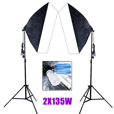 Continuous Lighting Softbox Studio Photography Soft Box Light Stand 2X135W Bulb