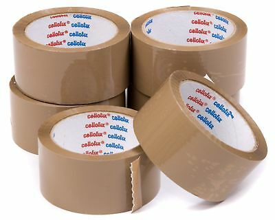 18 x Rolls Cellofix Low Noise Brown Packing Tape 48mm x66m cheapest best quality