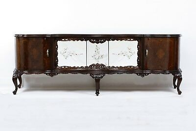 Antique Chest of Drawers, Dresser Marquetry -1930 Walnut Professional Renovation